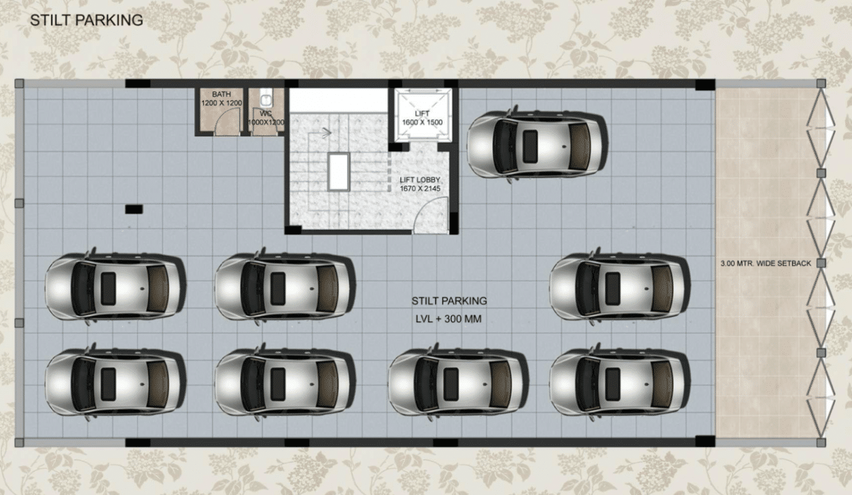 Builder Floor in Sector57 Car Parking