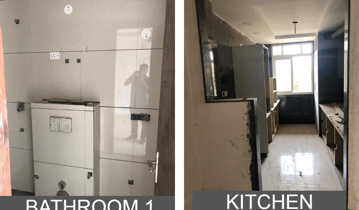 Builder Floor in Sushant Lok 2 in Sector 57 Bathroom & Kitchen
