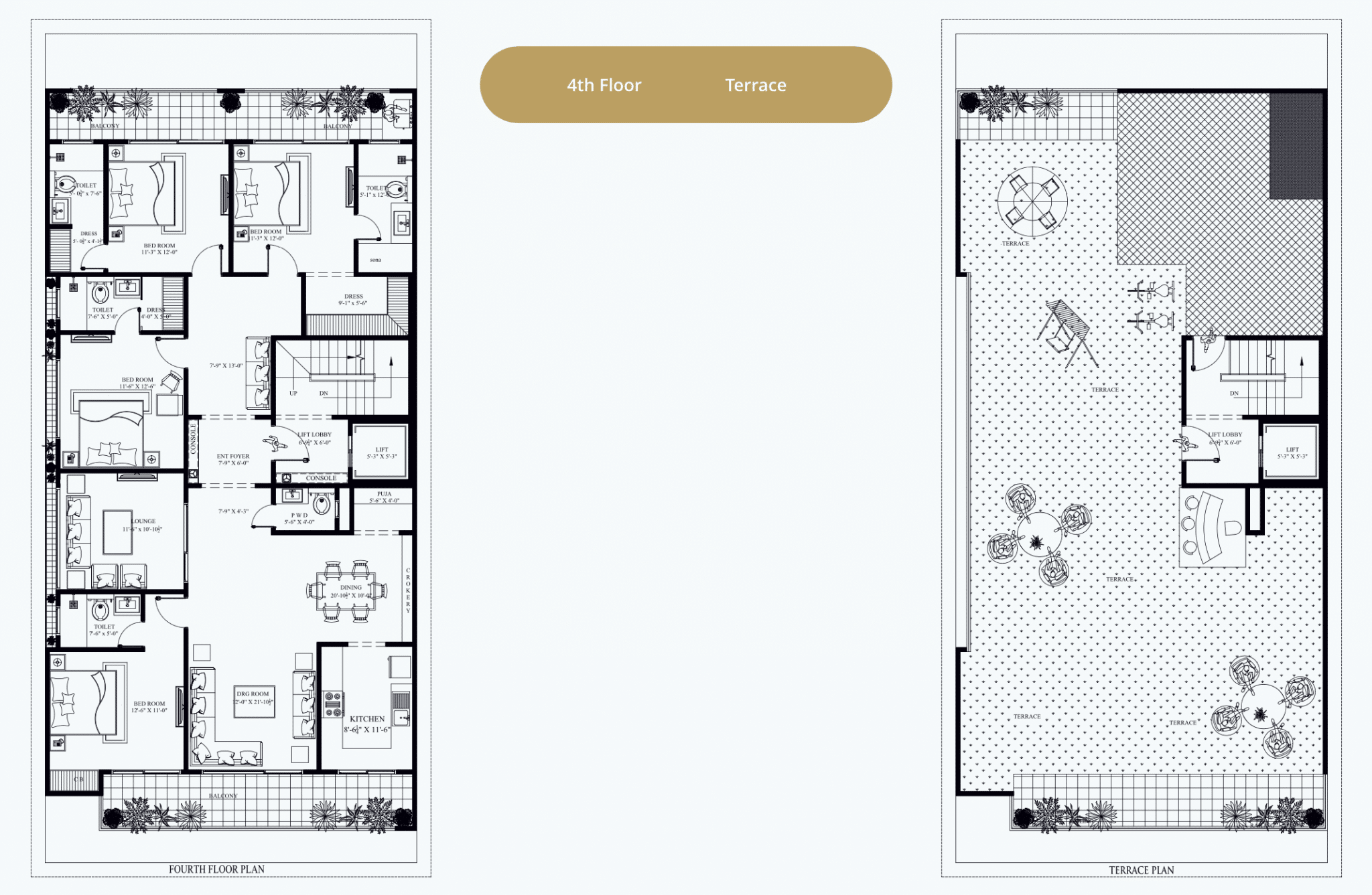 4th and Terrace Floor Plan